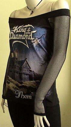 KING Diamond Them  Metal DIY Women Shirt size by obskura on Etsy, $49.99