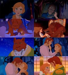 Anna and Hans as Beauty and the Beast. This is cool but WHY HANS? Prob cause he's a meanie beast?