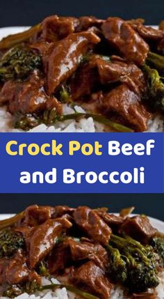 Crock Pot Beef and Broccoli Ingredients: 1 lbboneless beef chuck roast, sliced into thin strips 1 cbeef consumme csoy sauce cbrown sugar 1 Tbspsesame oil cloves, minced 2 Tbspcornstarch 2 Tbspcooled sauce from the 8 hours. 3 In a cup, stir co Chicken Broccoli Casserole, Broccoli Beef, Slow Cooked Chicken, How To Cook Chicken, Dinner Recipes Easy Quick, Easy Recipes, Cooking Fresh Broccoli, Beef Chuck Roast, Bread Puddings