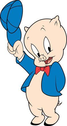 Porky Pig - Wikipedia Retro Cartoons, Cartoon Tv, Animated Cartoons, Animated Cartoon Characters, Tom Y Jerry, Looney Tunes, Pig Illustration, Saturday Morning Cartoons, Folklore