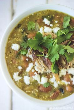 Copycat Santiago Green Chili Recipe In 2019 Santiagos . Santiago's Mexican Restaurant Green Light On The Chile . Colorado Pork Green Chili Recipe In 2019 Pork Green . Home and Family Pork Recipes, Mexican Food Recipes, Cooking Recipes, Cooking Chili, Recipies, Cooking Bacon, Mexican Dishes, Crockpot Recipes, Pulled Pork Chili
