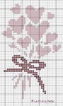 Heart bouquet x-stitch Cross Stitch Heart, Cross Stitch Cards, Cross Stitch Flowers, Cross Stitching, Cross Stitch Embroidery, Embroidery Patterns, Hand Embroidery, Cross Stitch Designs, Cross Stitch Patterns