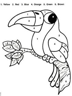 Coloring Page: Color By Number Animal-Free printable - Coloring Page: Color By Number Animal-Free printable - Disney Coloring Pages, Animal Coloring Pages, Free Printable Coloring Pages, Colouring Pages, Coloring Pages For Kids, Free Coloring, Coloring Books, Alphabet Coloring, Preschool Colors