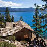 Known as Summertide, this 5.5-acre property in Crystal Bay, Nev., was once owned by businessman, aviator and filmmaker Howard Hughes. The Adirondack-style estate offers 500 feet of frontage on famous Lake Tahoe and has a buoy and a pier to maximize waterfront living.