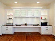 Custom White Kitchen Cabinets