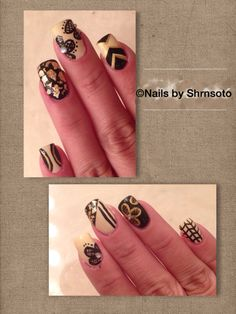 Nude black and gold