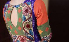 inspiration for making patchwork blouse of your own--use kalamkari/ ikats/ mangalgiri / ---options galore!