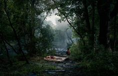Gregory Crewdson, Untitled (Forest Clearing), 'Beneath the Roses', 2006, Digital carbon print, 144,8 x 223,5 cm, Courtesy Gagosian Gallery, New York, © Gregory Crewdson, 2010.