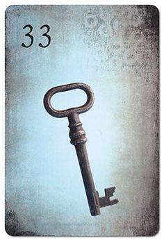 Mondnacht Lenormand Karte 33: Schlüssel