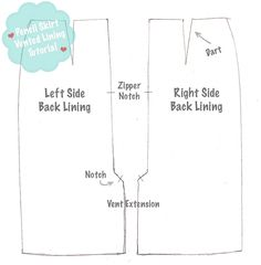 Adding a Lining to a Vented Skirt (A Fashionable Stitch)