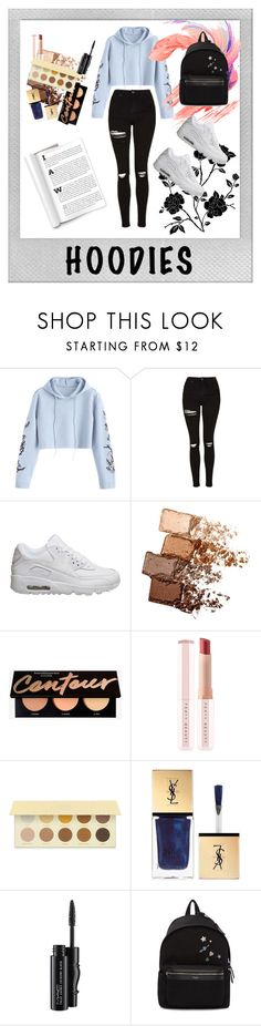 """""""My hoodie"""" by khairunnisadyh ❤ liked on Polyvore featuring Polaroid, Topshop, NIKE, Maybelline, Puma, Christian Dior, MAC Cosmetics, Yves Saint Laurent and Hoodies"""