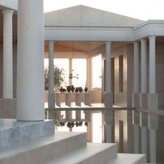 Amanzoe super-stylish luxury wellness resort, near Agis Nikolaos Peloponnese, Greece. Holistic therapies, including Pilates, yoga and aquatic bodywork. Astrogeo pos.: mystic, spiritual water sign Pisces sign of letting go, leaving the past behind, dreaming, temples, the spiritual plane, legendes, illusion, 2nd cood. in air sign Gemini sign of signposts, road crossings, communication, learning, technology, practical magic, FL3.