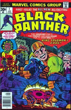 Black Panther #1. Cover art by Jack Kirby & John Verpoorten (1977).