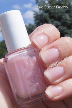 Color Me Jules: Essie Sugar Daddy Natural Nail Polish, Natural Nails, Sheer Nail Polish, Gel Polish, Clear Pink Nail Polish, Pink Nails, Gel Nails, Glitter Nails, Essie Nail Polish Colors