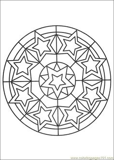 Free Printable Mandala Coloring Pages | free printable coloring page Mandalas 027 (Other > Painting)