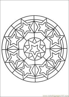 Free Printable Mandala Coloring Pages | free printable coloring page Mandalas 027 (Other > Painting)