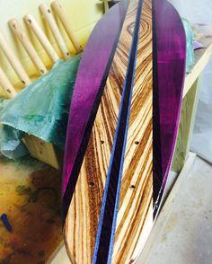 Purple HAZE Skateboard Pintail Handmade Custom