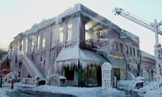 Waterman Opera House in Plattsmouth, Nebraska, caught fire. After firefighters put it out, and the sun streaked through the windows, this remained. Nebraska, Big Freeze, Deep Freeze, Cool Pictures, Cool Photos, Winter Pictures, Amazing Photos, Nova, Haunting Photos