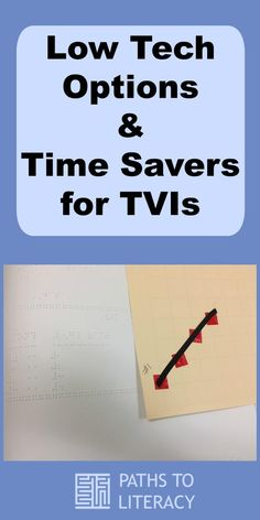 These low tech options and time savers for TVIs include creating resource folders, tactile graphics, and using Math Window.
