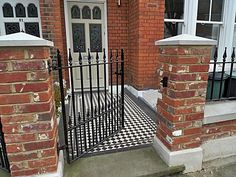 We need a pier cap for the top of wall gate post, and love the black and white tiled path.