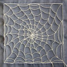 spider web tutorial video - this could make some cool placemats or a runner...possibilities are endless
