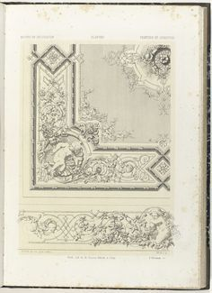 Plafond en fries, Anonymous, Etablissement Lithographique De Charles Claesen, c. 1866 - c. 1900