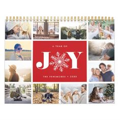 A Year of Joy | 2018 Photo Calendar - click/tap to personalize and buy. #Calendars #photocalendar #calendar2018