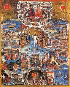 Glory of Christ Komaros Table monastery Moni Toplou, Crete - Greece Religious Images, Religious Icons, Religious Art, Byzantine Icons, Byzantine Art, Greek Icons, Art Of Noise, Alchemy Art, Crete Greece