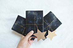 Constellation notebook Star notebook Indigo by PlutoKaleidoscope