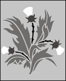 Click to see the actual SS4 - Thistle stencil design.