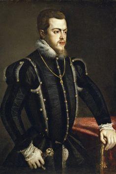 Tiziano Vecellio, Retrato de Felipe II, ca. 1549-1550