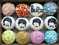 The Beatles cupcakes-OMG AWESOME!!!  I WANT THESE FOR MY BIRTHDAY CAKE!!