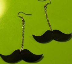 Dali Mustache Dangling Earrings by Little Angels http://www.angryyoungandpoor.com/store/pc/viewPrd.asp?idproduct=166966=411