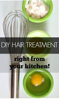 Best DIY Hiar Conditioner straight from your kitchen! Hair Cream, Hair Treatment
