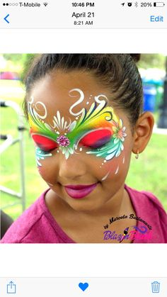 Fairy face painting idea! Www.BlazinBrush.com