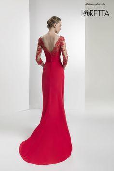 Collezione 2017 | Vestito da cerimonia rosso con scollatura sulla schiena #vestitolungo #cerimonia