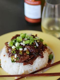 Copycat Recipes: P.F. Changs Mongolian Beef. Serve your Mongolian beef with white rice.  For full recipe instructions visit http://www.foodista.com/ - #Foodista.com