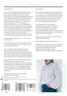RKNITS SKÅBU NEULEOHJE | YKSINKERTAINEN GANNI KUVIO VILLAPAITA OHJE | Reetta Pelli Drops Design, Knitting Designs, Hygge, Knit Crochet, Diy Crafts, Pattern, Handmade, Crocheting, Crafting