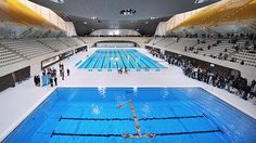2012 olympic swimming and diving complex so excited to watch some super fast swimming this