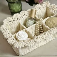 Coqueta cajita en crochet 11 FREE Crochet Basket Patterns