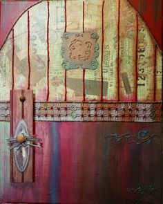 Door To The World. Mixed Media Artwork