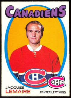 1971 72 Topps 71 JACQUES LEMAIRE CANADIENS NM MONTREAL HOCKEY CARD #MontrealCanadiens Montreal Canadiens, Hockey Shot, Ice Hockey, Montreal Hockey, Hockey Hall Of Fame, Hockey Games, Sports Figures, National Hockey League, Football Cards