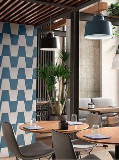 Dynamische neue Ästhetik für Ihre Wände . Neues überraschendes Format bei keram. Wandfliesen von Cevica aus Spanien Tiles, Conference Room, Divider, Ceramics, Furniture, Home Decor, Sevilla Spain, Room Tiles, Ceramica