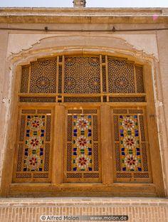 Iran / Yazd / Khan-e Lari house window