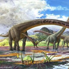 The long-necked sauropod Mamenchisaurus (Sergey Krasovskiy)