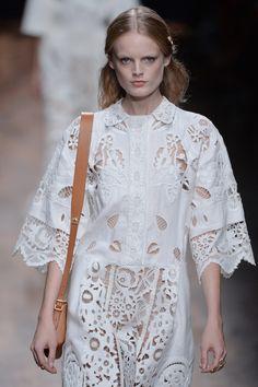 Folkloric fabrics put a boho romantic spin on this seasons shirt dress, seen at@MaisonValentino#SS15 #PFW