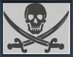 Pirate Cross stitch Pattern PDF by KnitSewMake on Etsy, £2.00