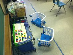 Laundry Basket Chairs! Oh, the potential of this idea!!