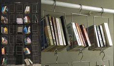 Love. Hanging bookshelves.