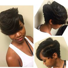 STYLIST FEATURE| Love this #pixiecut✂️ done by #MobileAL Stylist @DaHairWiz❤️ This cut is so sexy #VoiceOfHair ========================= Go to VoiceOfHair.com ========================= Find hairstyles and hair tips! =========================